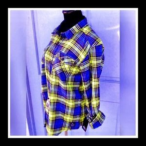 Quicksilver Long Sleeve Button Up Plaid Flannel